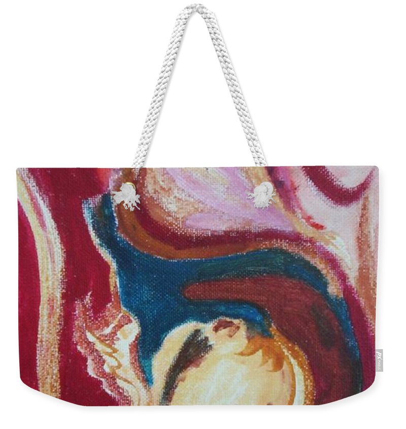 Oil Painting Weekender Tote Bag featuring the painting Garlic by Suzanne Udell Levinger