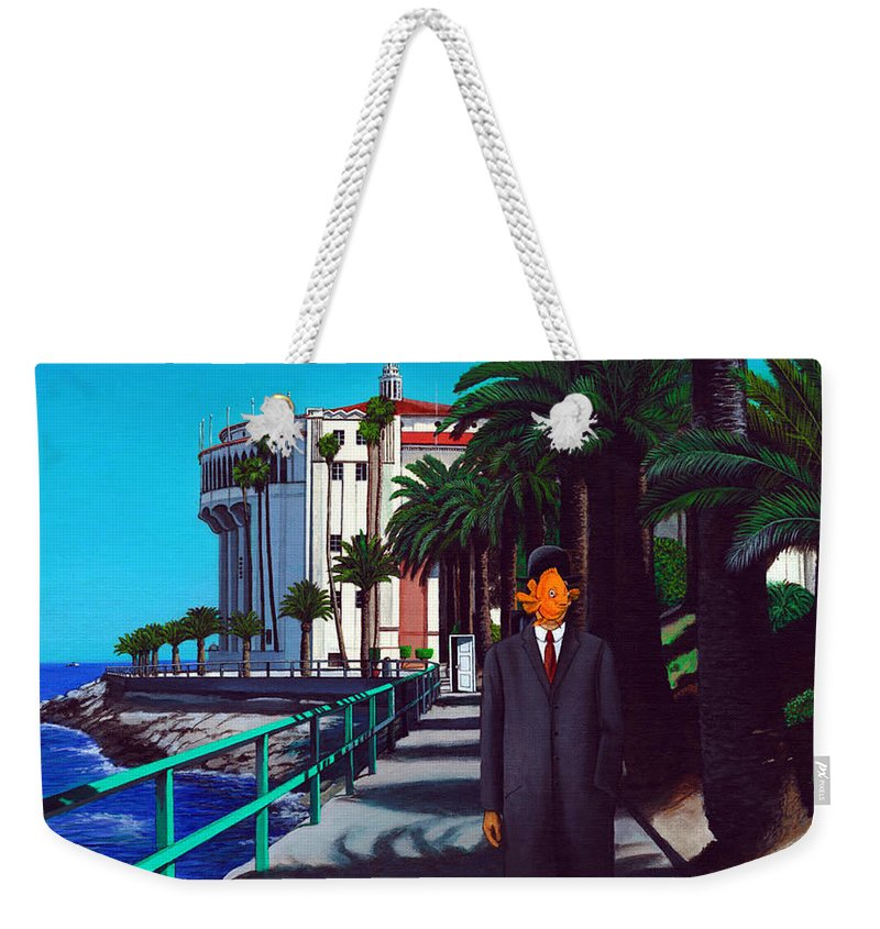 Catalina Weekender Tote Bag featuring the painting Gary Baldie by Snake Jagger