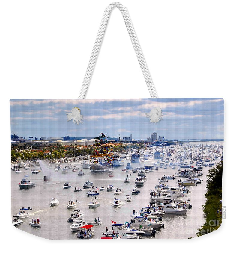 Jose Gasparilla Weekender Tote Bag featuring the photograph Gaspar by David Lee Thompson