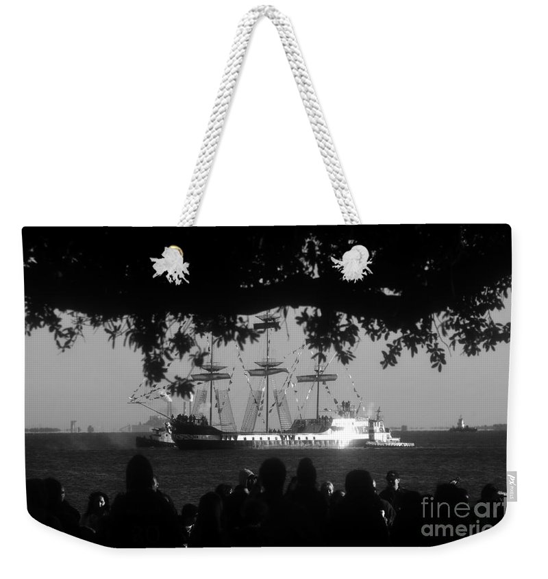 Gasparilla Pirate Ship Weekender Tote Bag featuring the photograph Gasparilla by David Lee Thompson