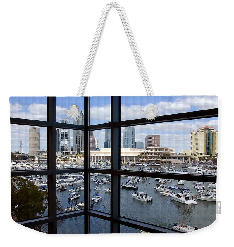 Gasparilla Weekender Tote Bag featuring the photograph Gasparilla Invasion by David Lee Thompson