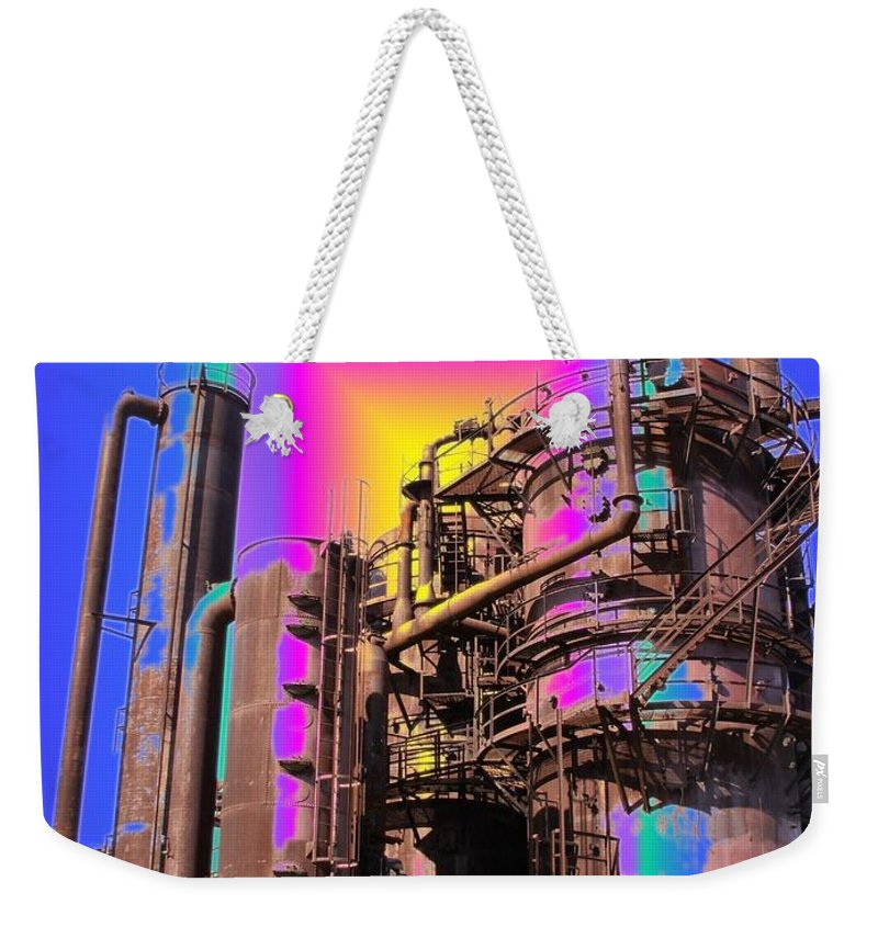 Seattle Weekender Tote Bag featuring the photograph Gasworks Park 3 by Tim Allen