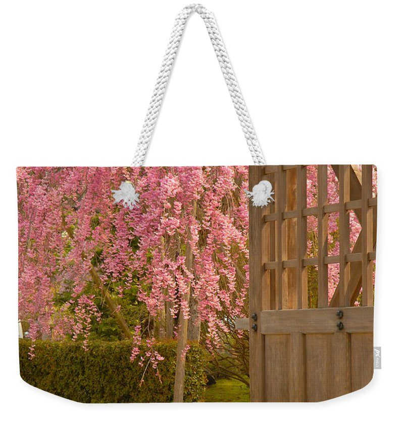 Japan Weekender Tote Bag featuring the photograph Gate by Sebastian Musial