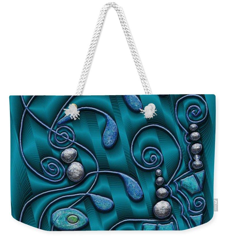Surrealism Weekender Tote Bag featuring the digital art Gate To Atlantis by Mark Sellers