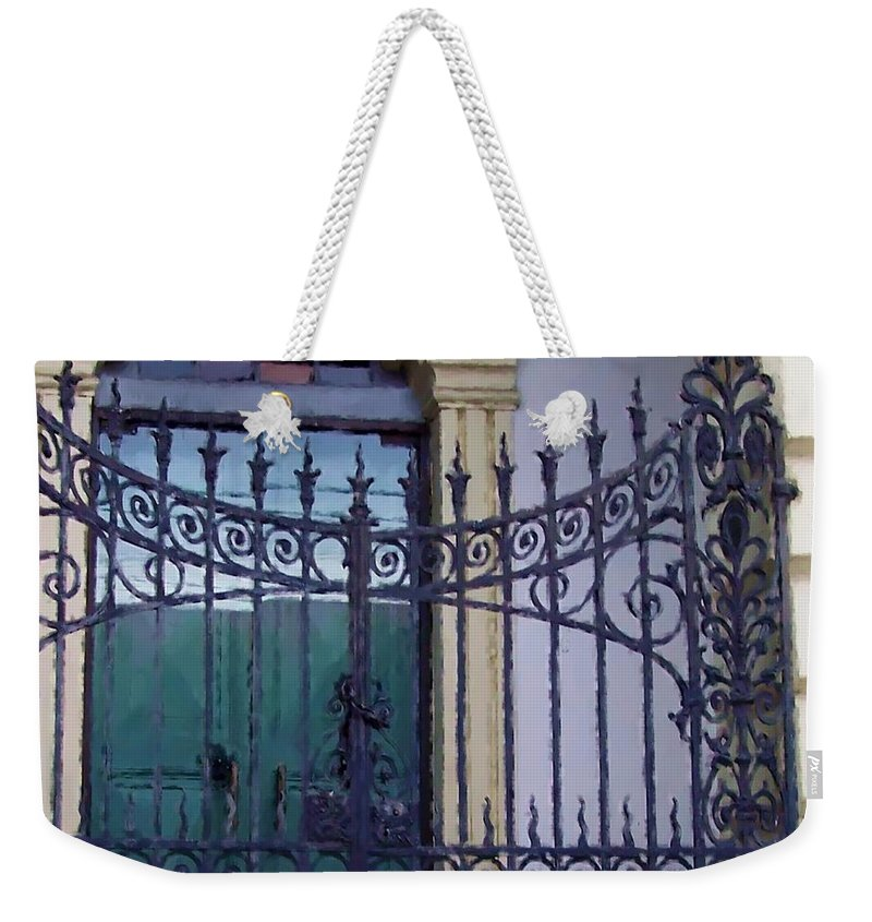 Gate Weekender Tote Bag featuring the photograph Gated by Debbi Granruth