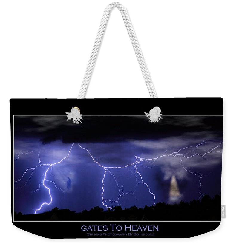 Religious Weekender Tote Bag featuring the photograph Gates To Heaven Color Poster by James BO Insogna