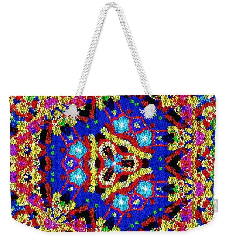 Kaleidoscope Wall Art Weekender Tote Bag featuring the tapestry - textile Gateway 10 by Laurie's Intuitive