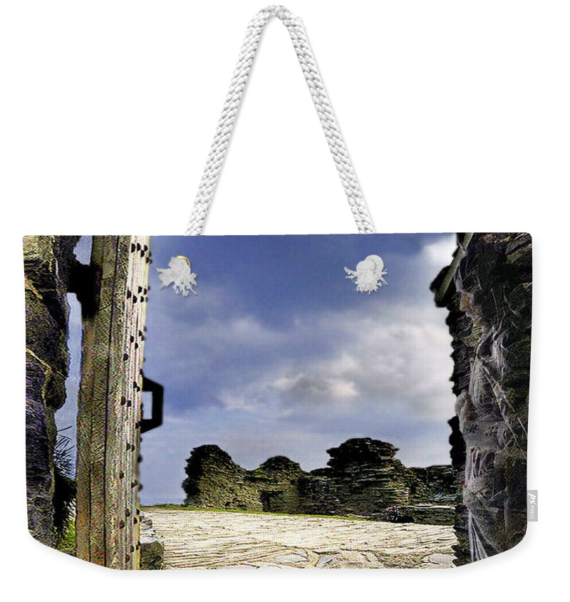 Castle Weekender Tote Bag featuring the digital art Gateway To The Castle by Vicki Lea Eggen