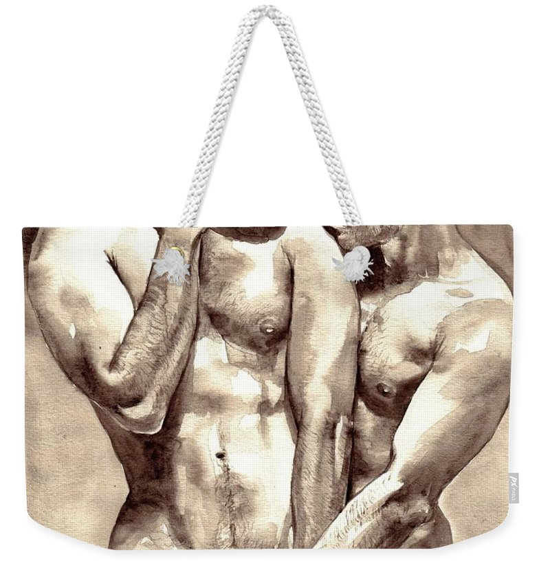 Love Weekender Tote Bag featuring the painting Gay Love watercolor by Suzann Sines