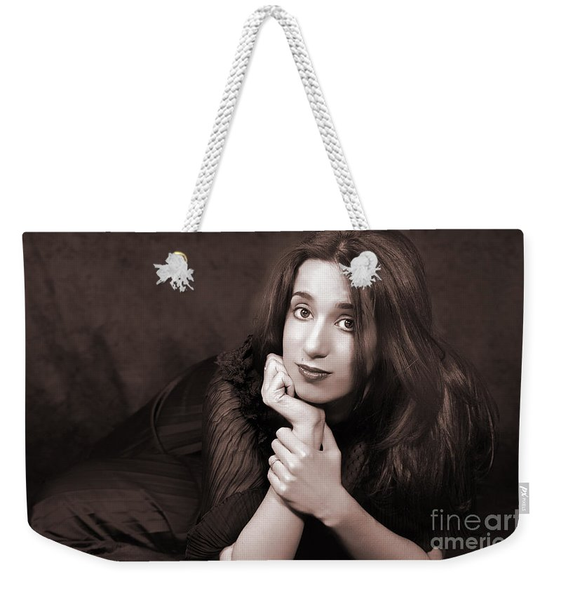 Clay Weekender Tote Bag featuring the photograph Gaze by Clayton Bruster