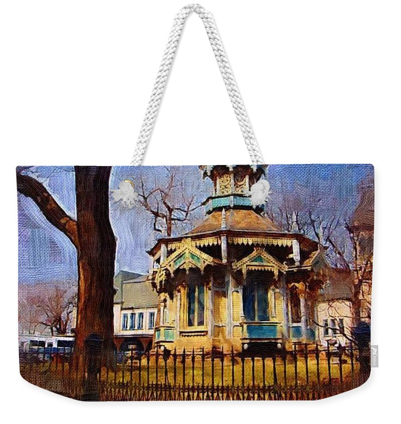 Architecture Weekender Tote Bag featuring the digital art Gazebo and tree by Anita Burgermeister