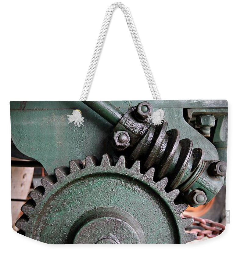 Gear Weekender Tote Bag featuring the photograph Gear by Chalet Roome-Rigdon