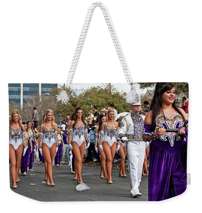 New Orleans Weekender Tote Bag featuring the photograph Geaux Tigers by Steve Harrington