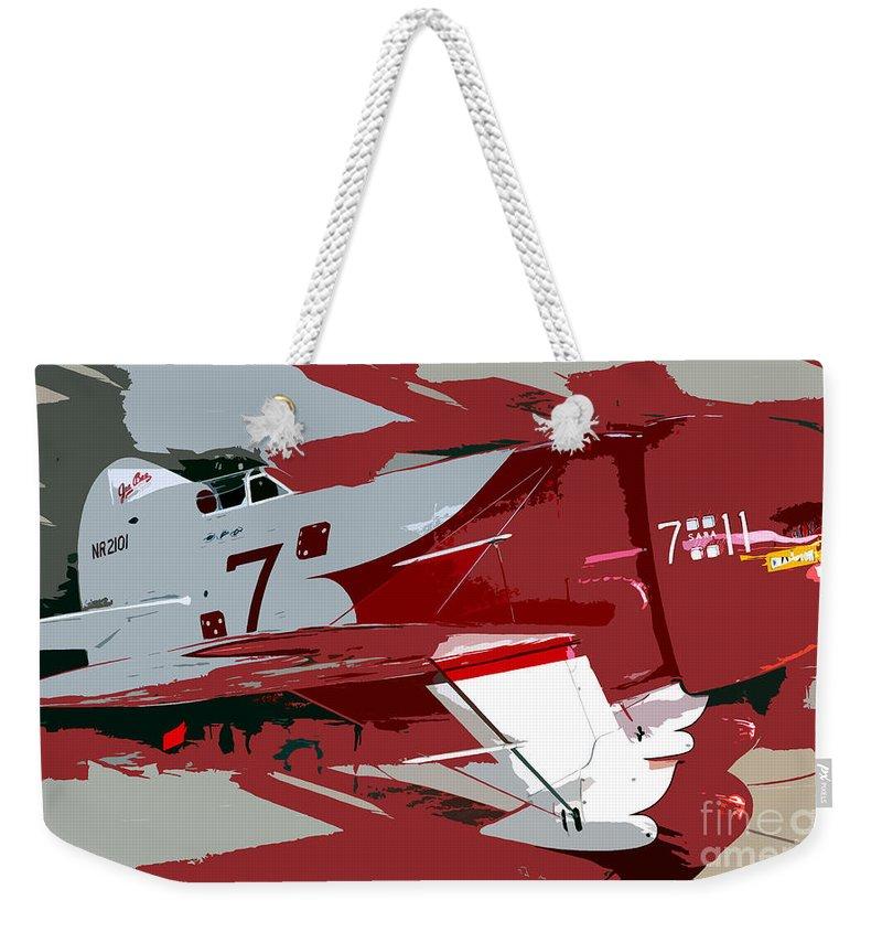 Gee Bee Racer Weekender Tote Bag featuring the painting Gee Bee Racer by David Lee Thompson