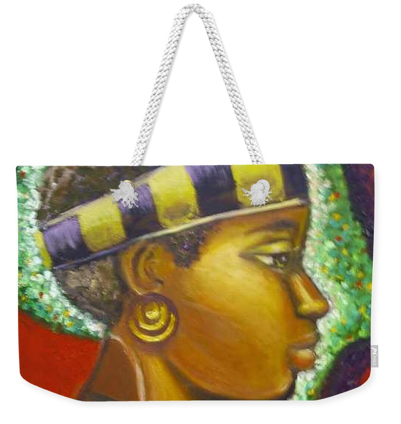 Gem Of Africa Weekender Tote Bag featuring the painting Gem Of Africa by Jan Gilmore