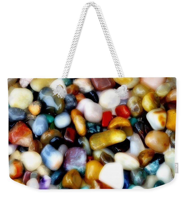 Agates Weekender Tote Bag featuring the photograph Gemglow by RC DeWinter