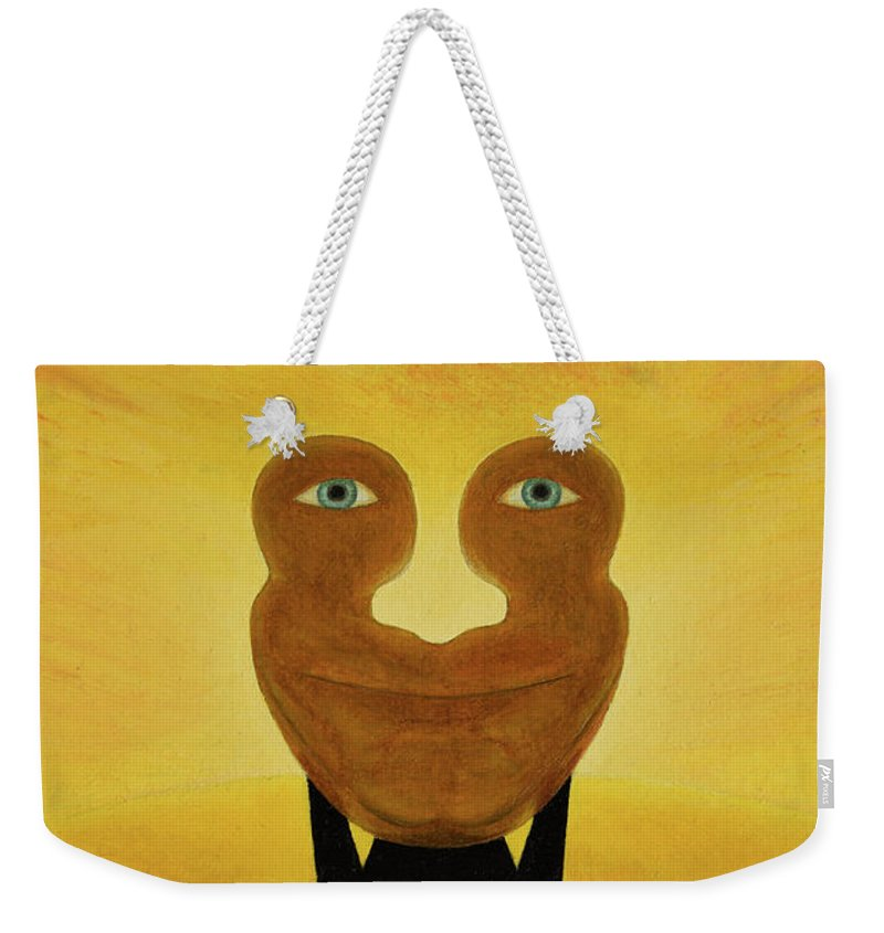 Face Weekender Tote Bag featuring the painting Gemini. Self-portrait by Oleg Konin