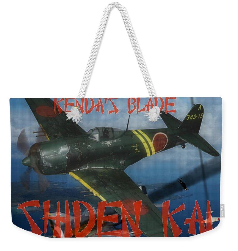 A6m Weekender Tote Bag featuring the digital art Genda's Blade by Mil Merchant