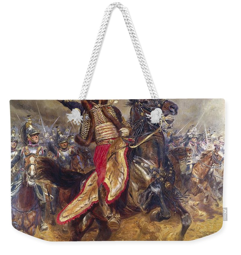 General Weekender Tote Bag featuring the painting General Antoine-charles-louis Lasalle by Jean Baptiste Edouard Detaille