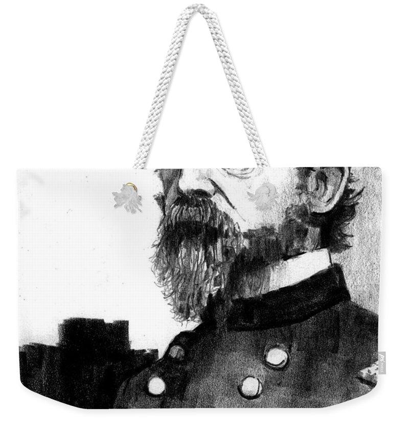 General Weekender Tote Bag featuring the drawing General George Meade by Paul Sachtleben