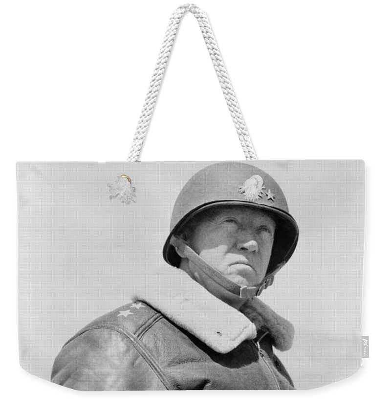 General Patton Weekender Tote Bag featuring the photograph General George S. Patton by War Is Hell Store