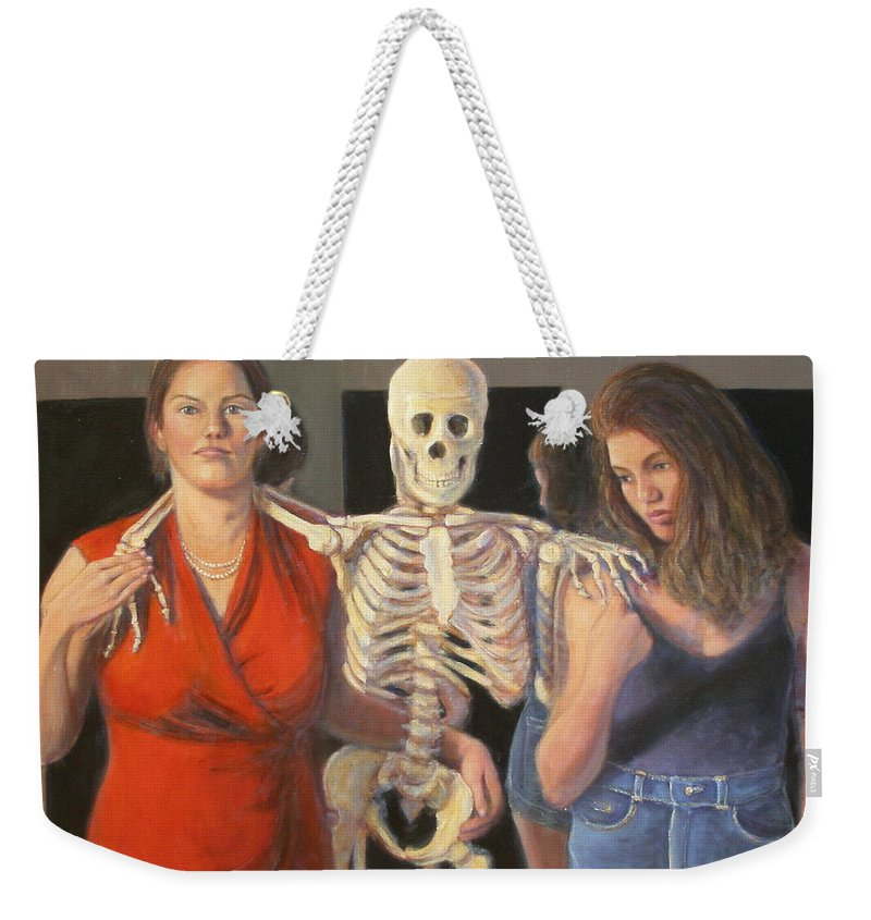 Realism Weekender Tote Bag featuring the painting Generations #2 by Donelli DiMaria