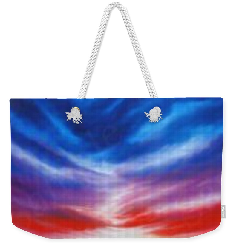 Tempest Weekender Tote Bag featuring the painting Genesis IIi by James Christopher Hill