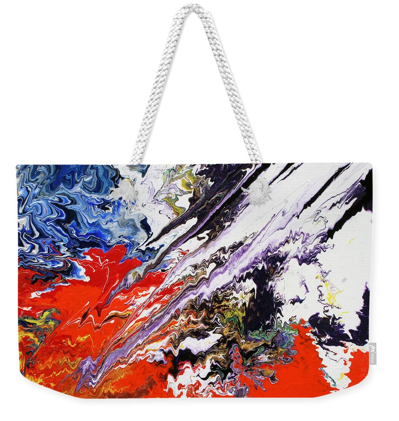 Fusionart Weekender Tote Bag featuring the painting Genesis by Ralph White
