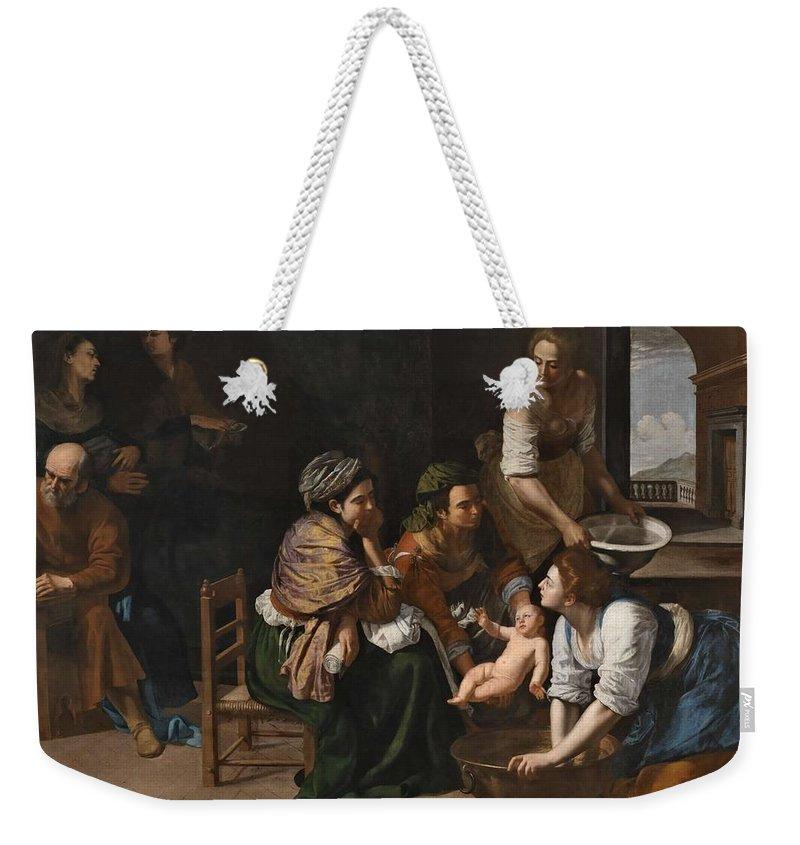 Art Weekender Tote Bag featuring the painting Genoese School by Genoese School