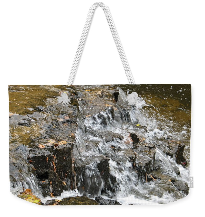 Waterfall Weekender Tote Bag featuring the photograph Gentle Falls by Kelly Mezzapelle