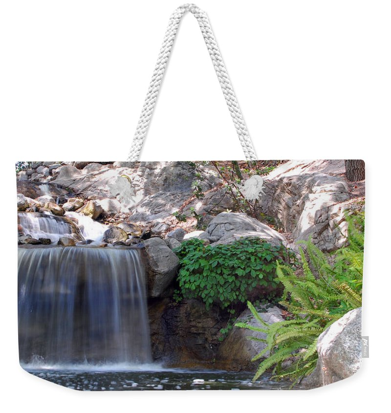 Water Weekender Tote Bag featuring the photograph Gentle Waterfall by Amy Fose