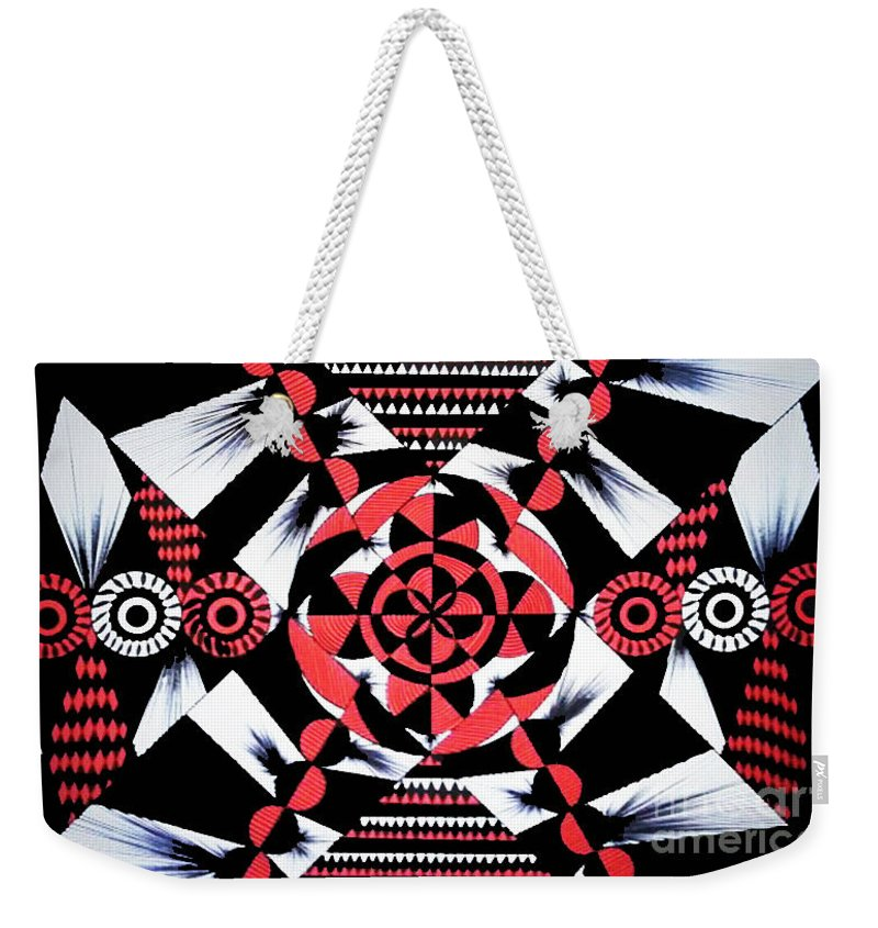 Art Weekender Tote Bag featuring the painting Geometric 1 by Nour Refaat