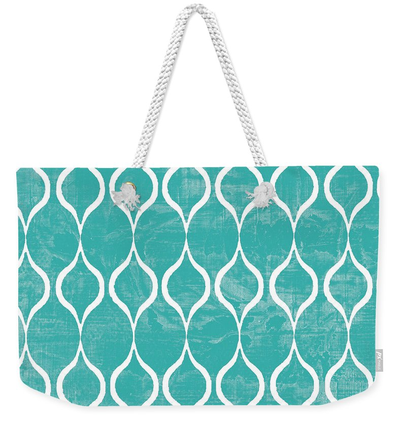 Tile Weekender Tote Bag featuring the mixed media Geometric 3 by Marilu Windvand