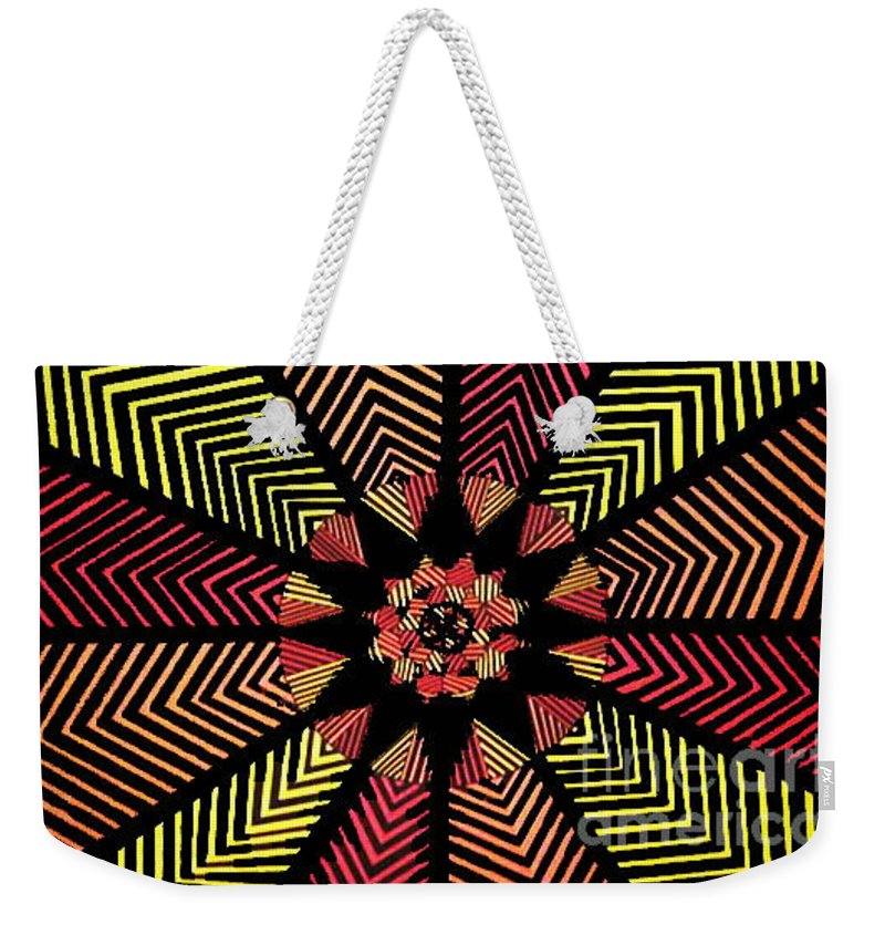 Art Weekender Tote Bag featuring the painting Geometric 5 by Nour Refaat