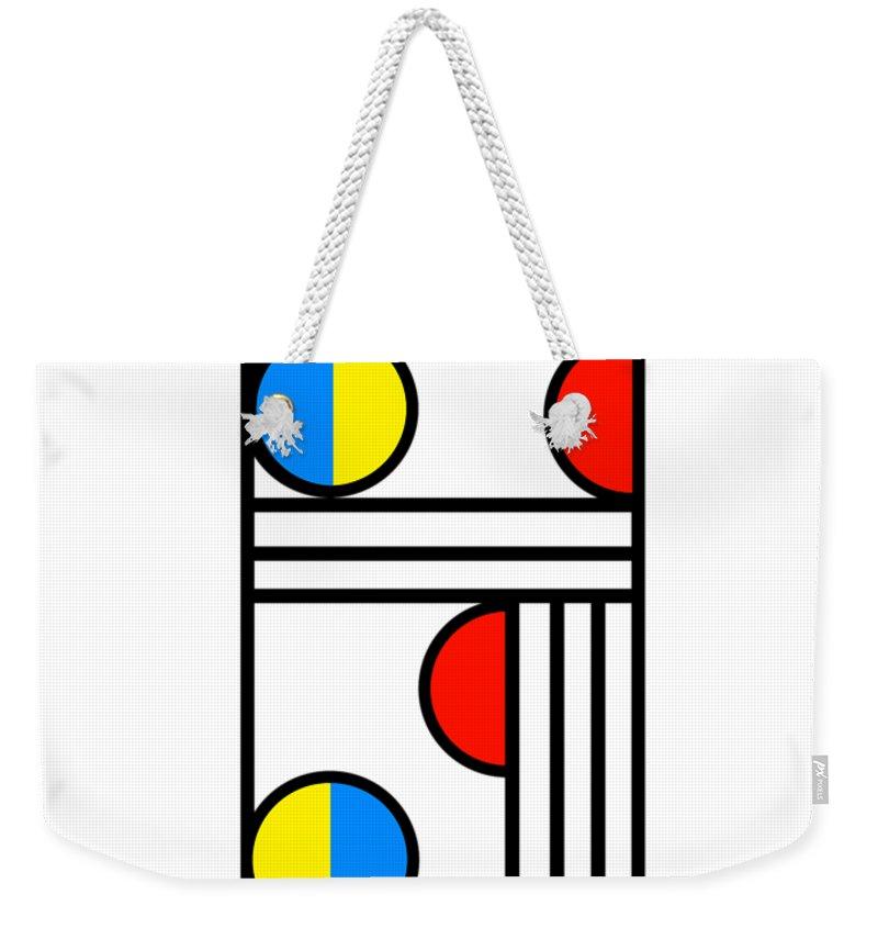 Geometry Weekender Tote Bag featuring the digital art Geometric Art 429 by Bill Owen
