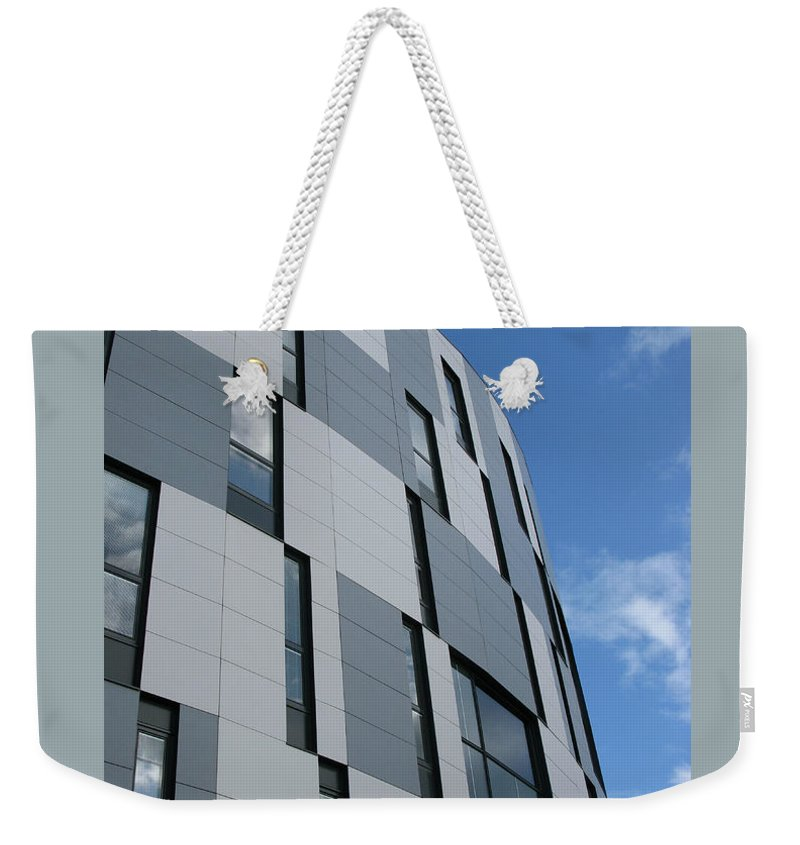 Architecture Weekender Tote Bag featuring the photograph Geometric Intrigue by Ann Horn