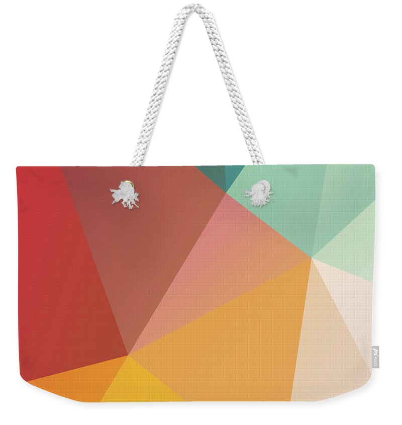 Weekender Tote Bag featuring the digital art Geometric Xxix by Ultra Pop