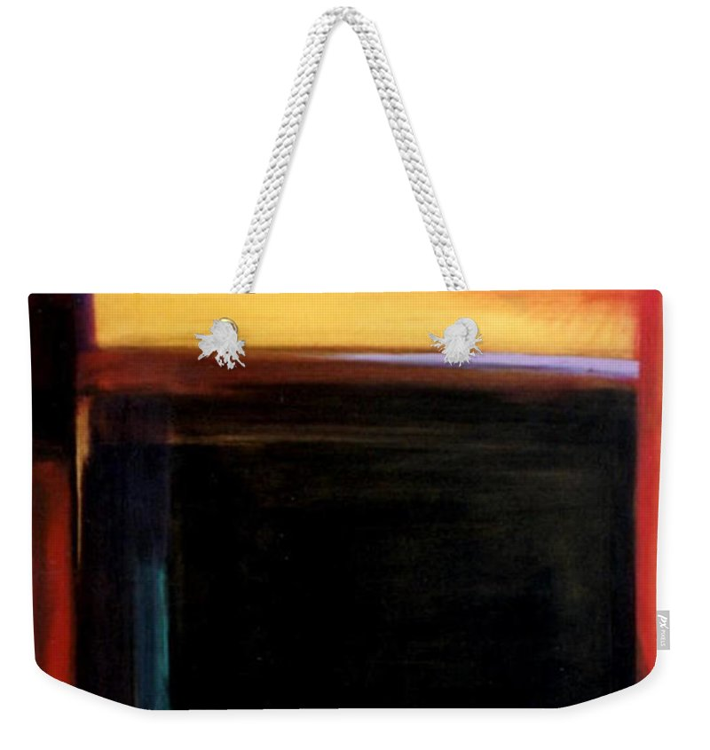 Abstract Weekender Tote Bag featuring the painting Geometrics 4 Loose Ends by Marlene Burns