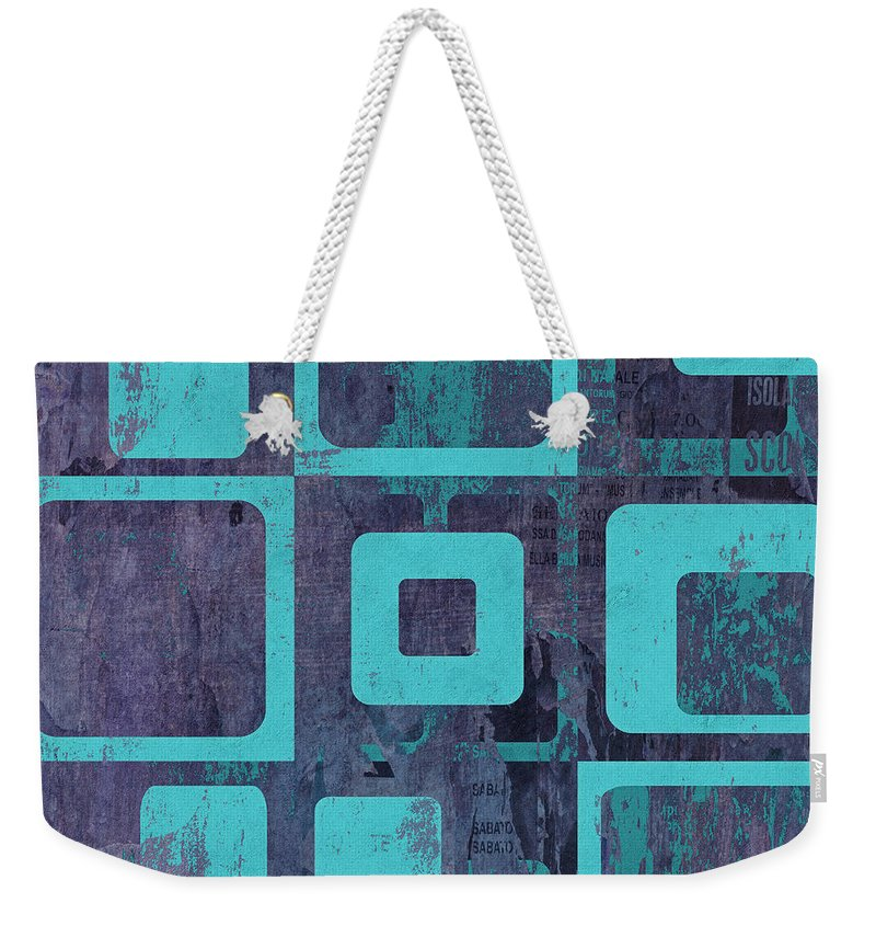 Abstract Weekender Tote Bag featuring the digital art Geomix 02 - Sp06c6b by Variance Collections