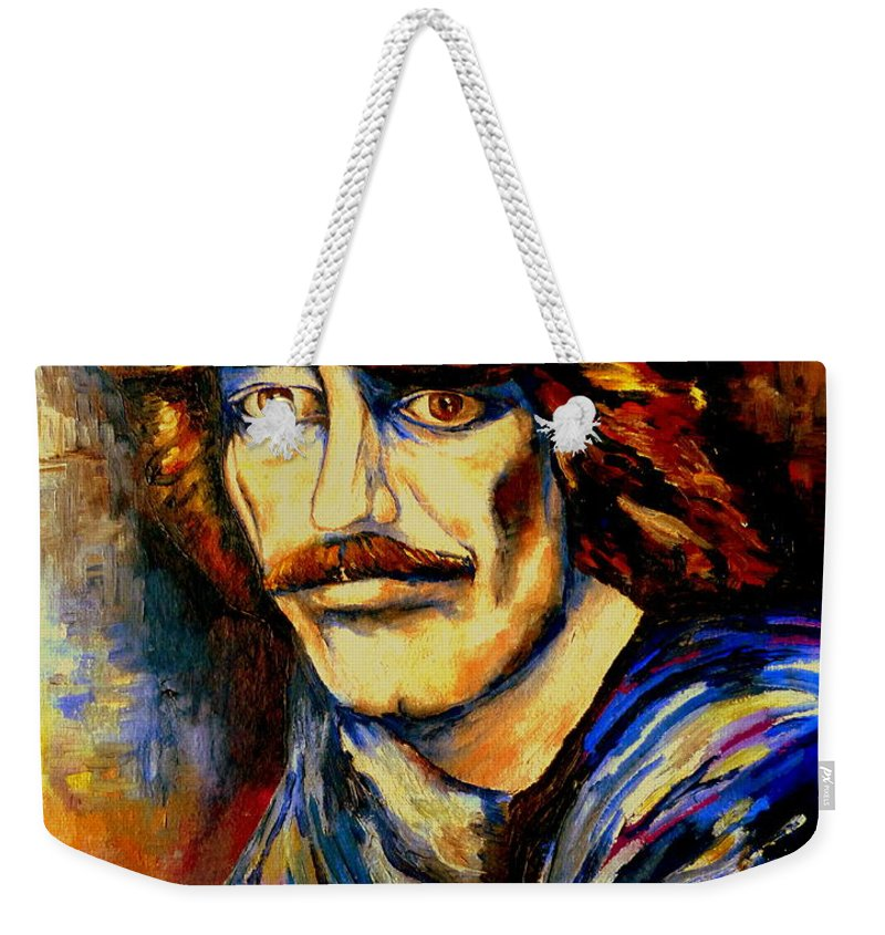 George Harrison Weekender Tote Bag featuring the painting George Harrison by Carole Spandau