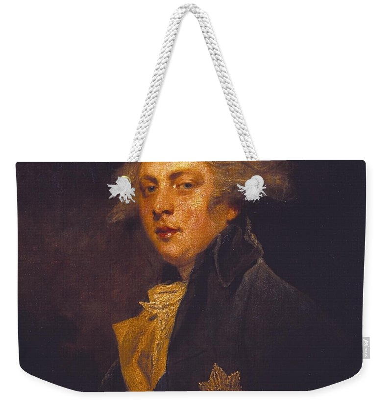 Sir Joshua Reynolds 1723–1792  George Iv When Prince Of Wales Weekender Tote Bag featuring the painting George Iv When Prince Of Wales by Sir Joshua Reynolds