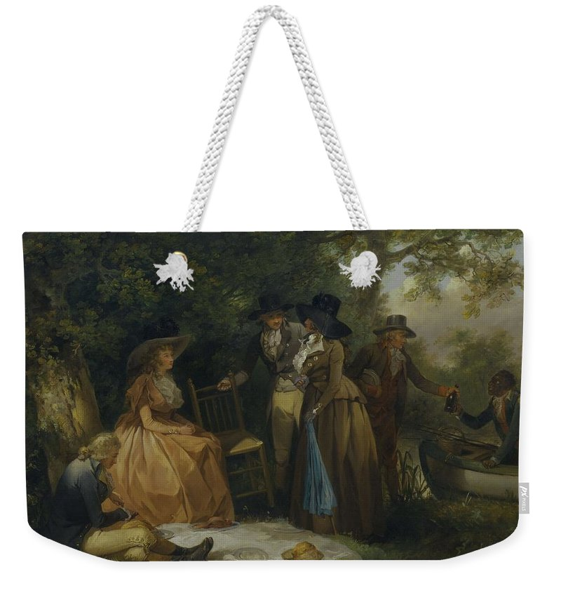 Nature Weekender Tote Bag featuring the painting George Morland  The Anglers Repast by George Morland