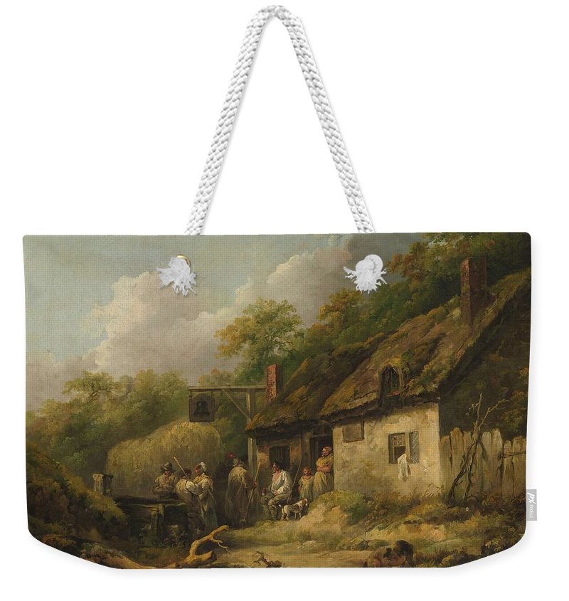 Nature Weekender Tote Bag featuring the painting George Morland The Bell Inn by George Morland