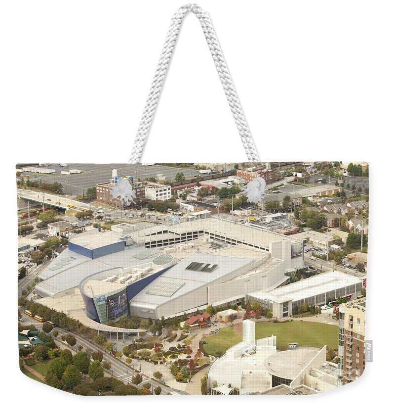 Georgia Aquarium Weekender Tote Bag featuring the photograph Georgia Aquarium And World Of Coca-cola by Anthony Totah