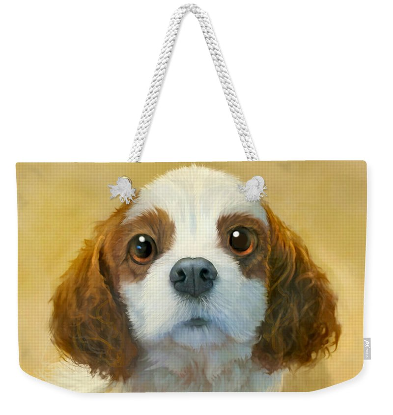 Dog Weekender Tote Bag featuring the painting More than Words by Sean ODaniels