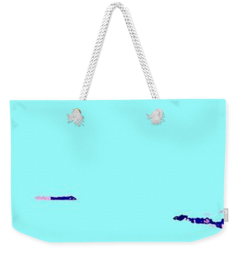 Weekender Tote Bag featuring the photograph Georgian Bay Blue by Ian MacDonald