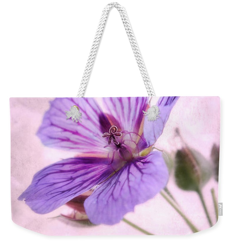 Geranium Maculatum Weekender Tote Bag featuring the photograph Geranium Maculatum by John Edwards