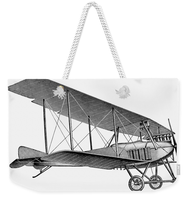 1913 Weekender Tote Bag featuring the photograph German Airplane, 1913 by Granger