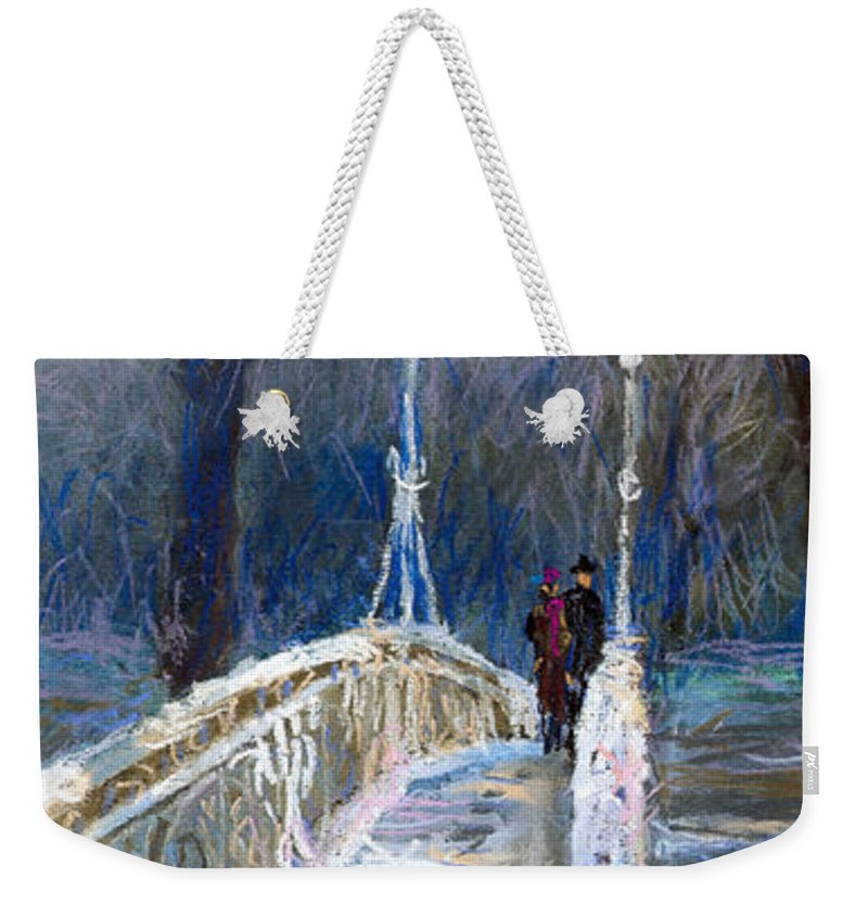 Pastel Weekender Tote Bag featuring the painting Germany Baden-baden 02 by Yuriy Shevchuk