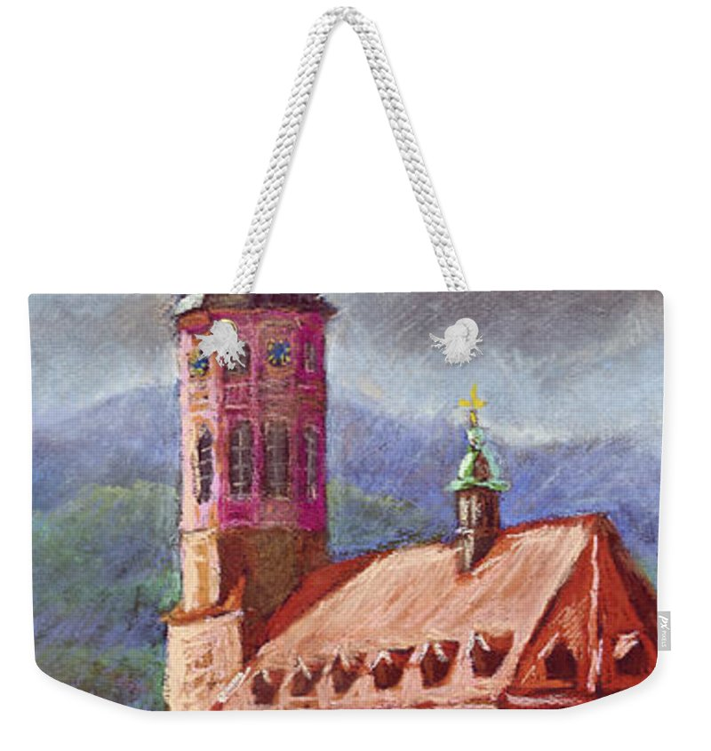 Pastel.germany Weekender Tote Bag featuring the painting Germany Baden-baden 05 by Yuriy Shevchuk